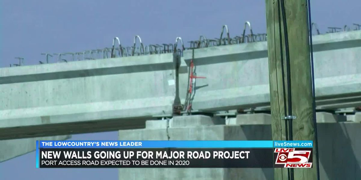VIDEO: New walls going up for Port Access Road Project