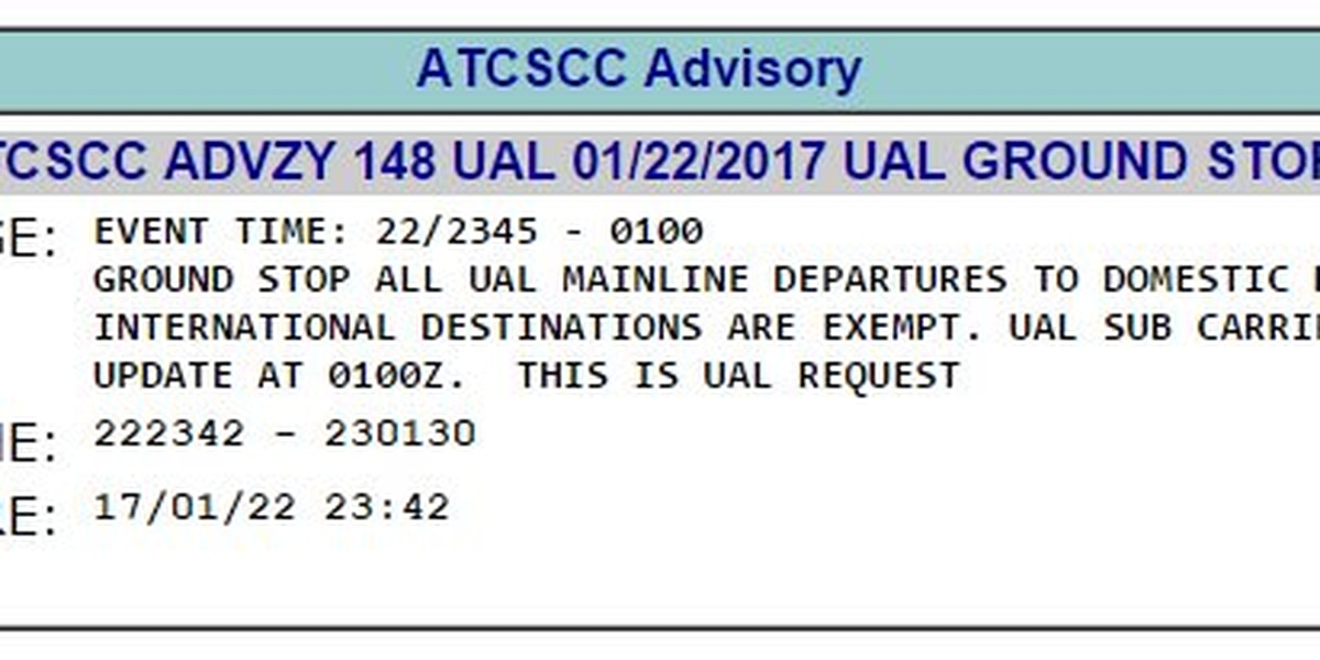 United Airlines flights lift ground stop after IT issue