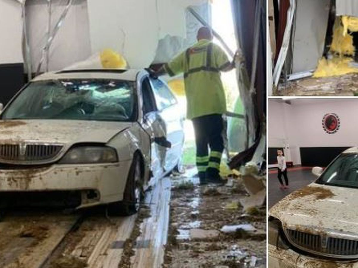 VIDEO: Car smashes into martial arts studio in southwest Charlotte