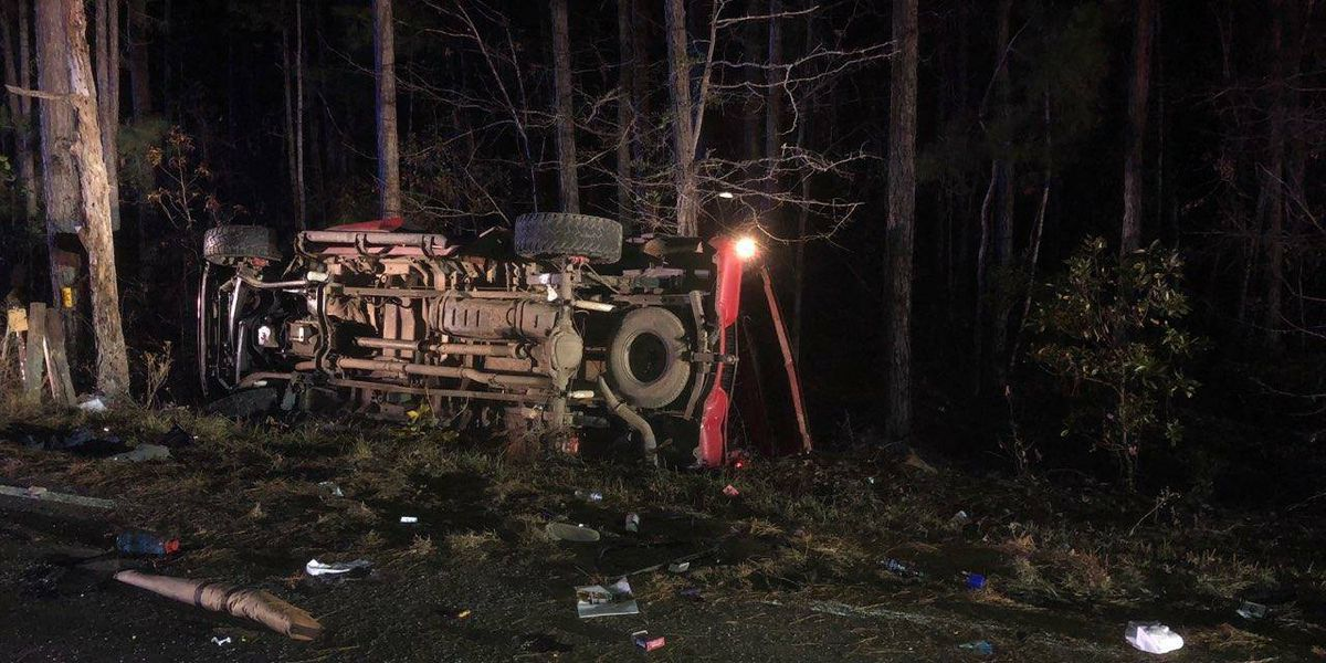 Person ejected from vehicle, hospitalized in Awendaw accident