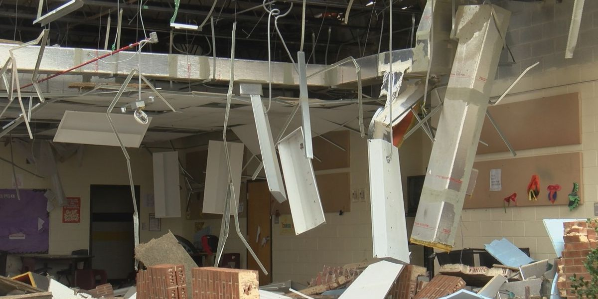 Damage estimates 'well into the millions' as tornado clean up continues at North Central High School