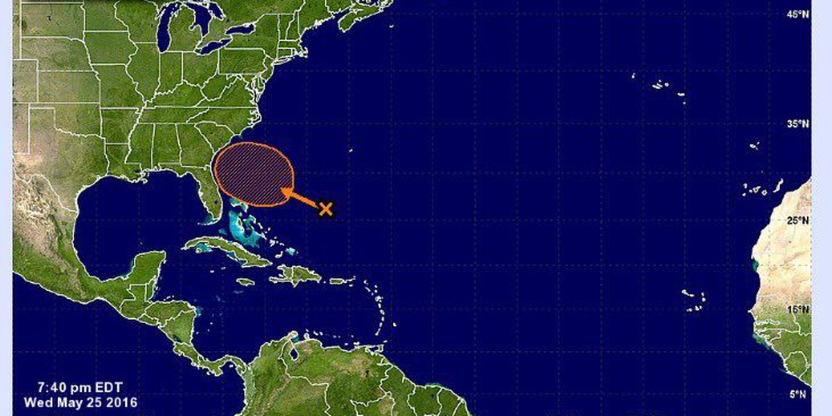 Chance of tropical storm off Southeast U.S. coast increases