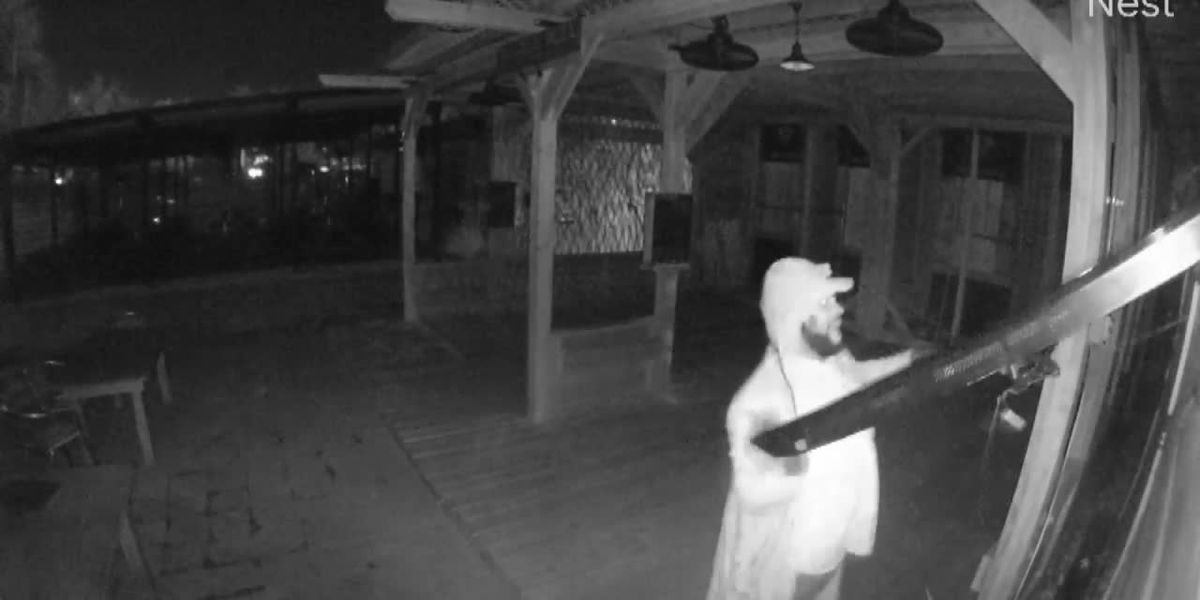 RAW VIDEO: Surveillance video records theft of TV from James Island restaurant