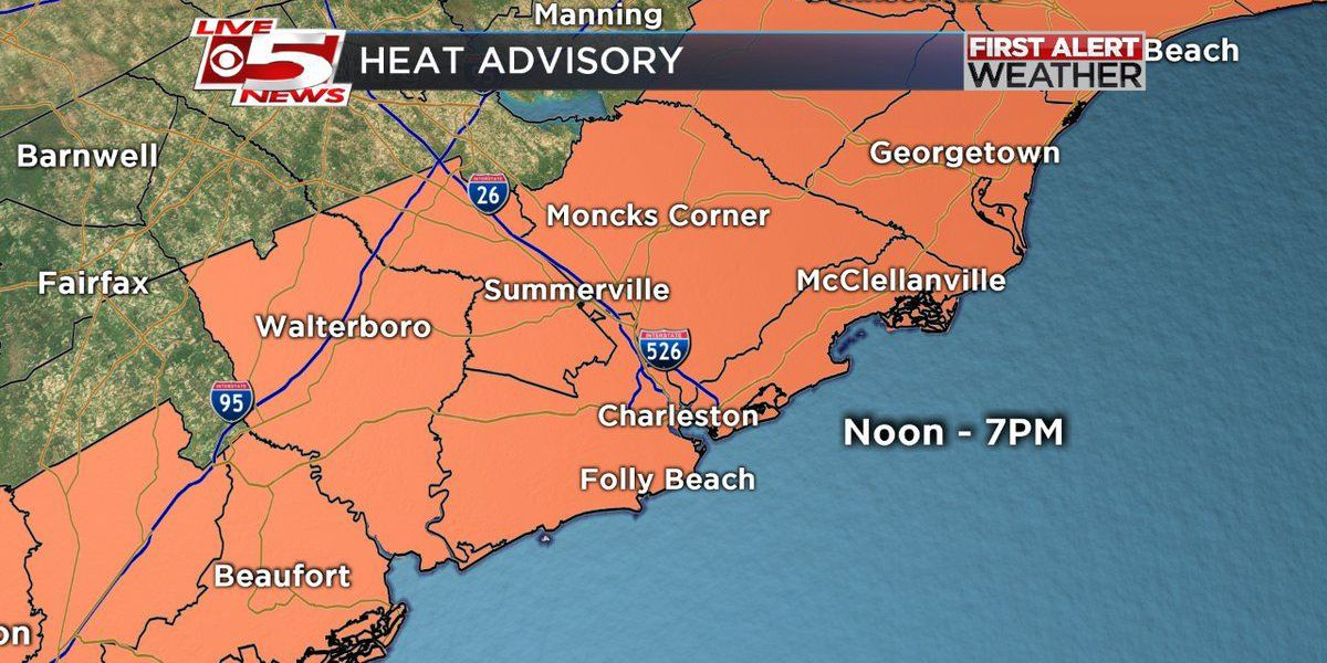FIRST ALERT WEATHER: Heat advisory in effect until 7 p.m.