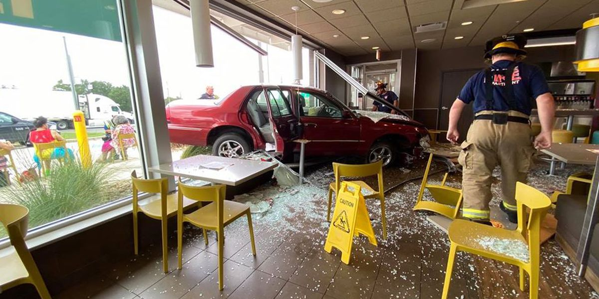 Several hurt when car slammed into McDonald's dining room in Cayce