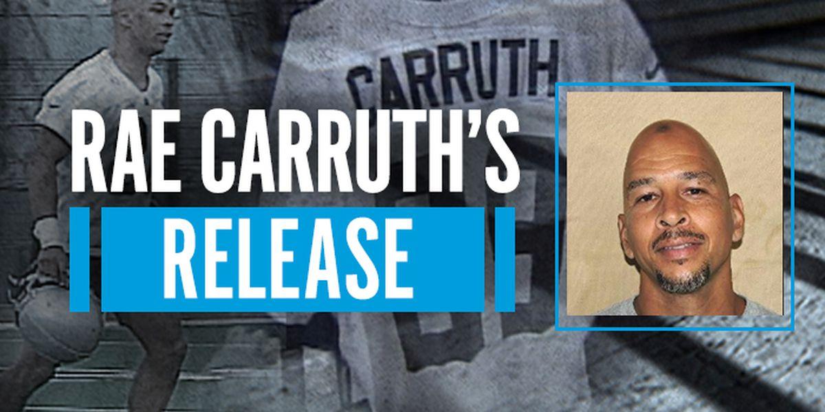 Former Carolina Panthers receiver Rae Carruth will walk free Monday