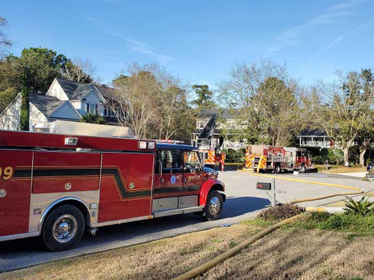 Fire at Mount Pleasant home under control, firefighters say