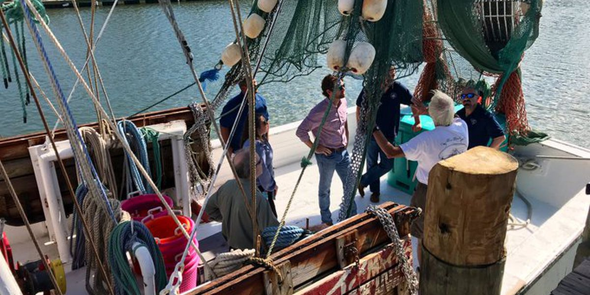 Rep. Cunningham meets with local fisherman on Shem Creek to discuss climate change concerns
