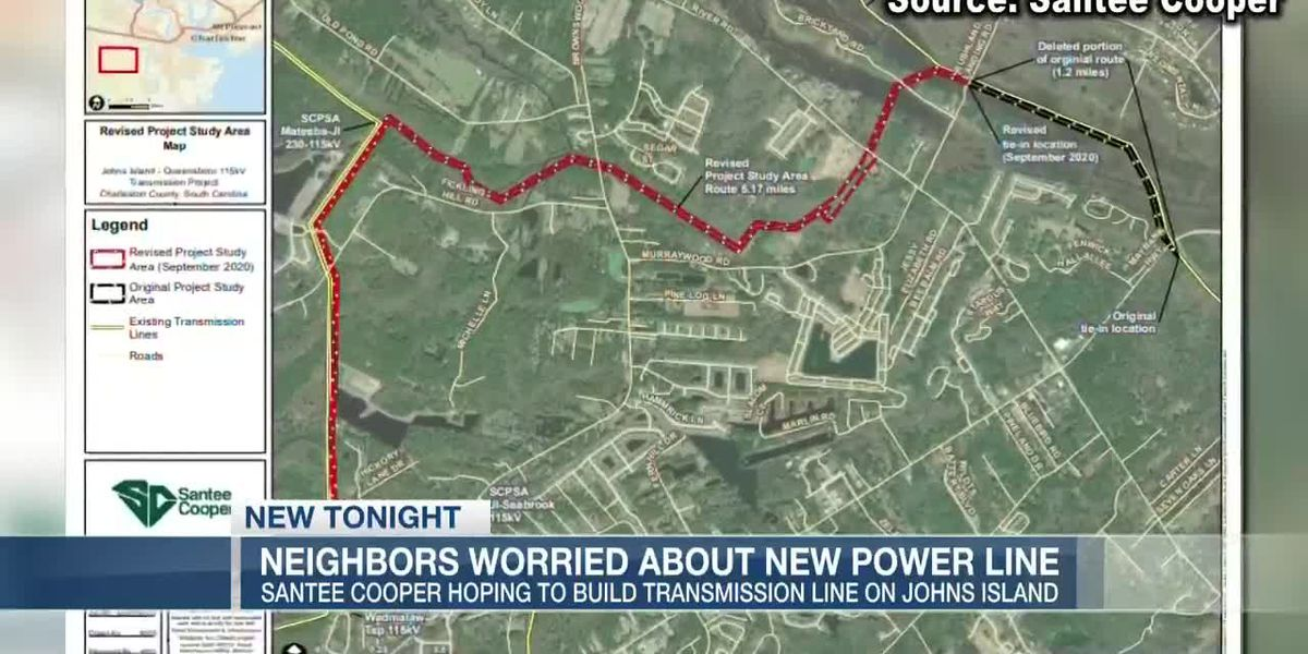 VIDEO: Johns Island residents concerned over plans for new transmission power line