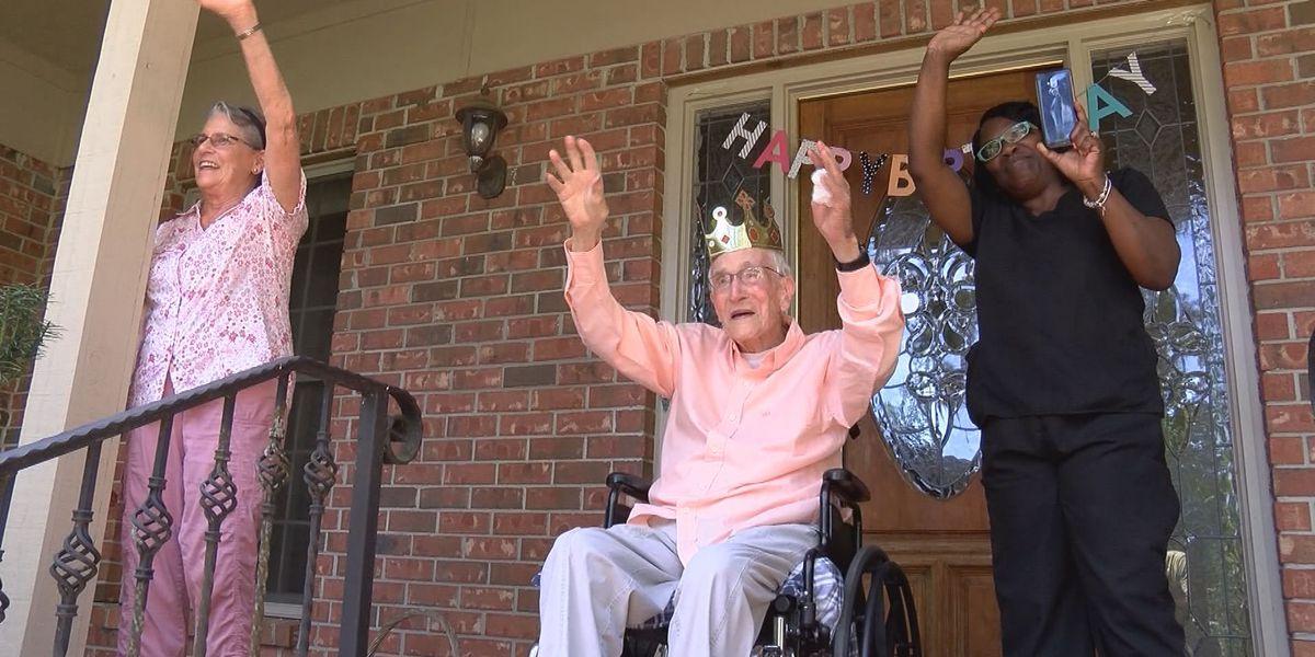 Man celebrates 107th birthday social distancing style