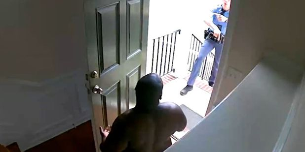 A homeowner was cuffed and mistaken for a burglar in his own home. He said the police refused to believe he lived there.