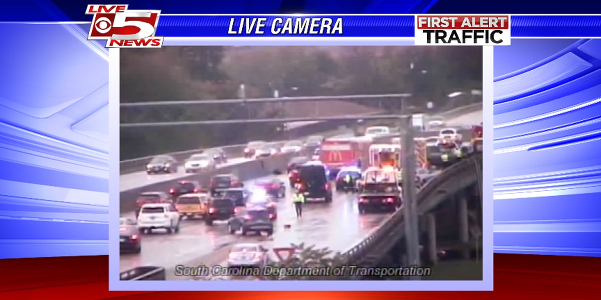 Westbound traffic moving slowly after crash on I-26 at Exit 209