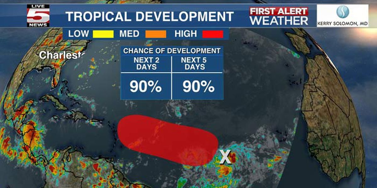 Atlantic tropical wave could become 'Josephine'