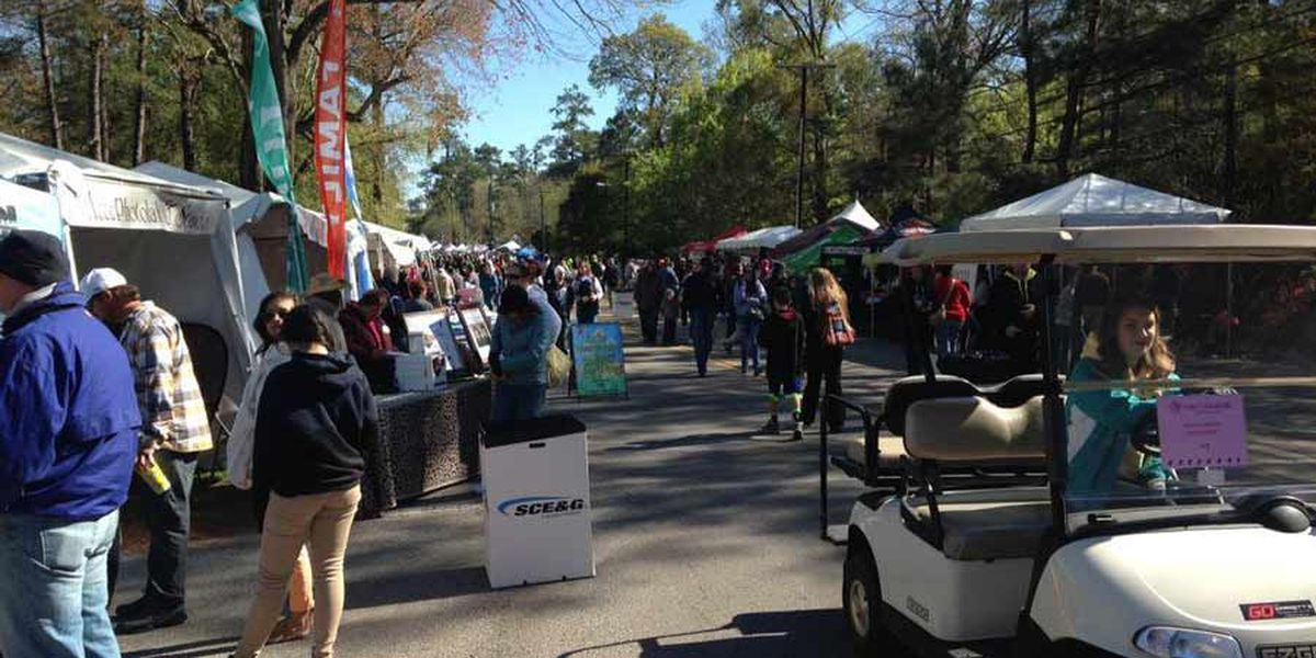 Flowertown vendors see smaller crowds because of cold weather, rain