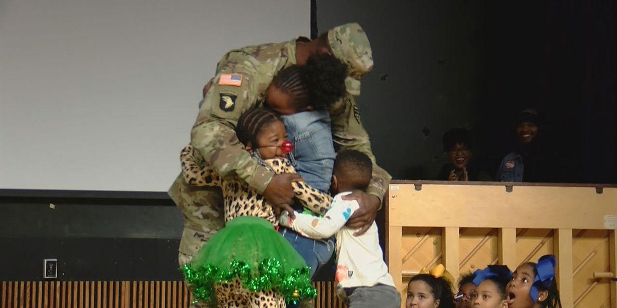 SC serviceman surprises his kids in emotional holiday homecoming