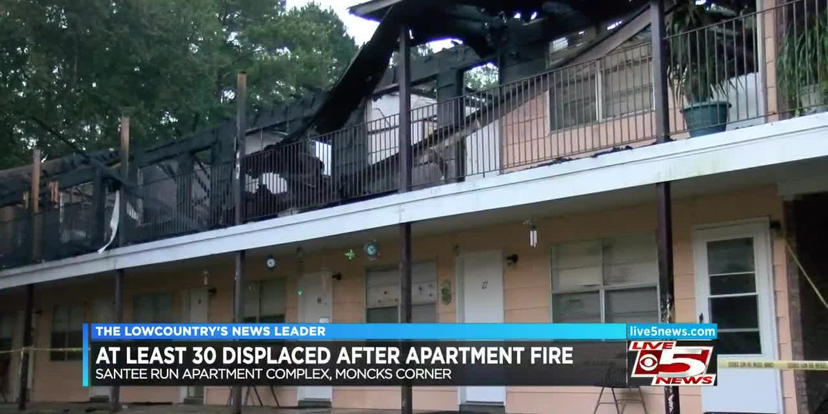 VIDEO: At least 30 displaced after Berkeley Co. apartment complex fire, Red Cross opens shelter