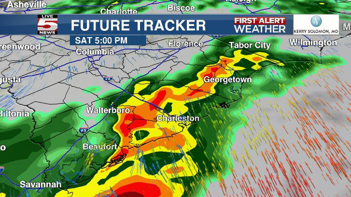 FIRST ALERT: Rain, possible severe storms possible into Saturday evening