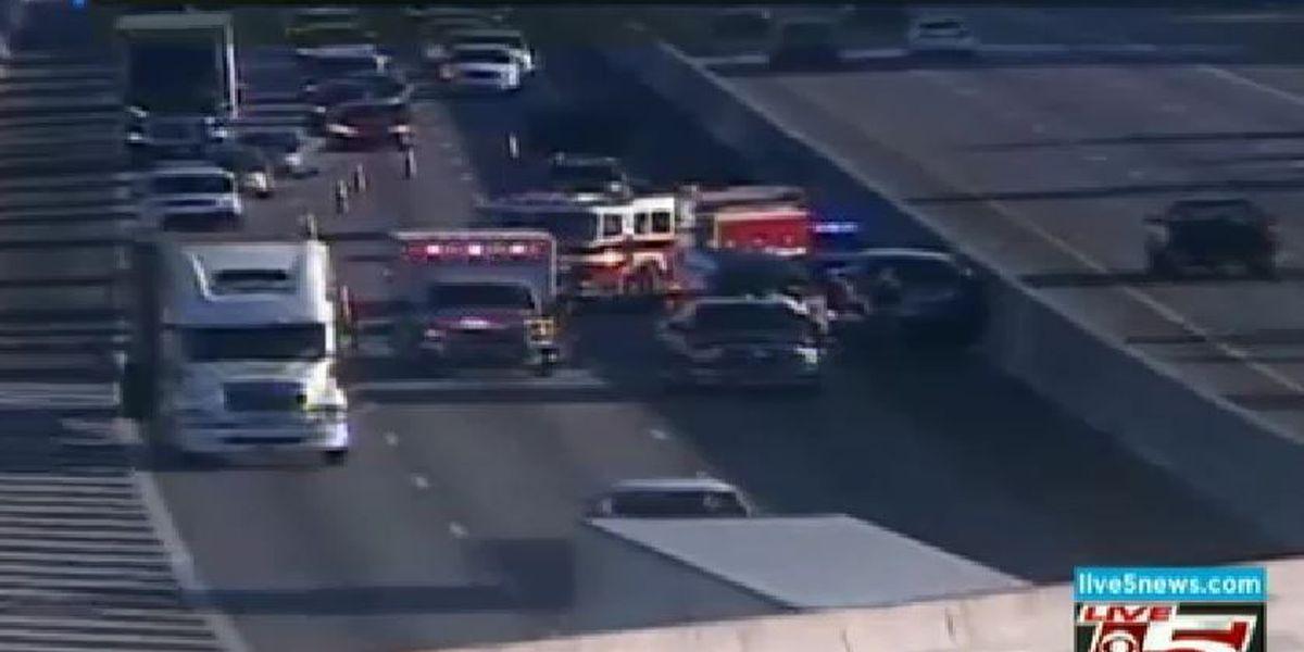 Lanes reopen after crash blocked I-26WB near Ashley Phosphate