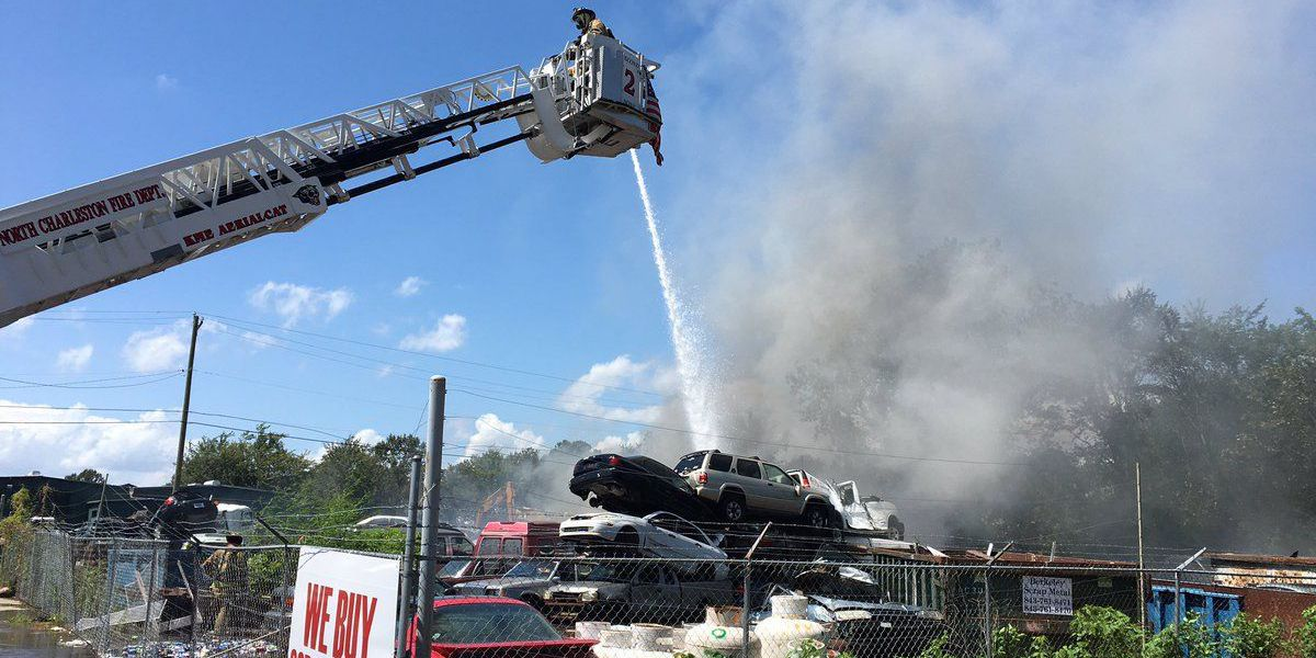 N. Charleston fire units extinguish fire involving old vehicles