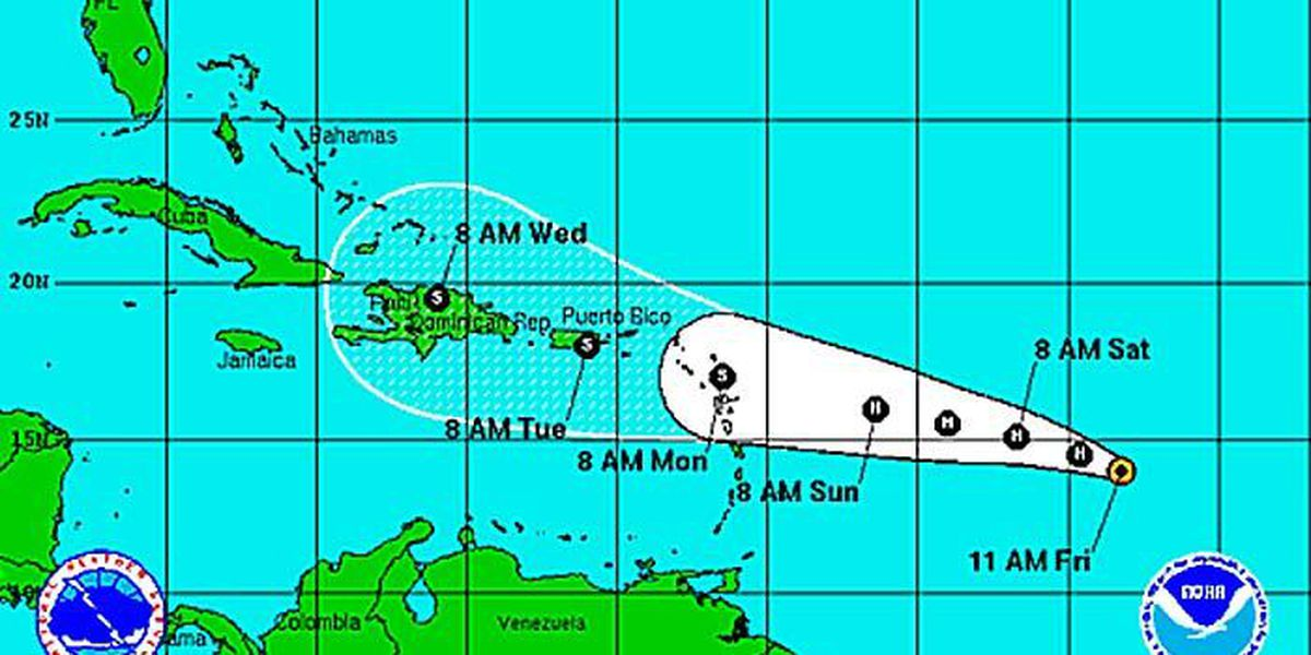 FIRST ALERT WEATHER: Danny strengthens to Category 2