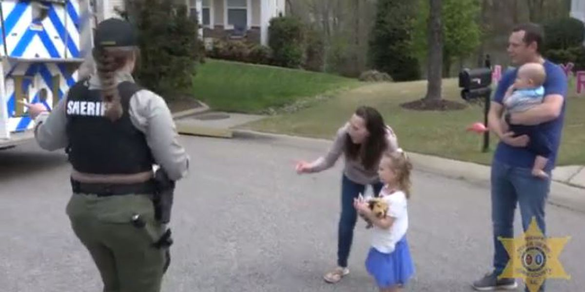 Surprise party! York County deputies arrive to wish 4-year-old 'Happy Birthday' during social distancing warning