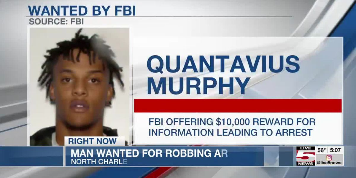 VIDEO: FBI offers $10K reward for info on 20-year-old wanted in North Charleston robbery