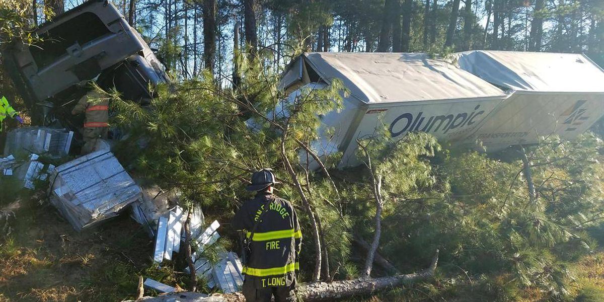 Authorities investigating I-26 tractor-trailer crash