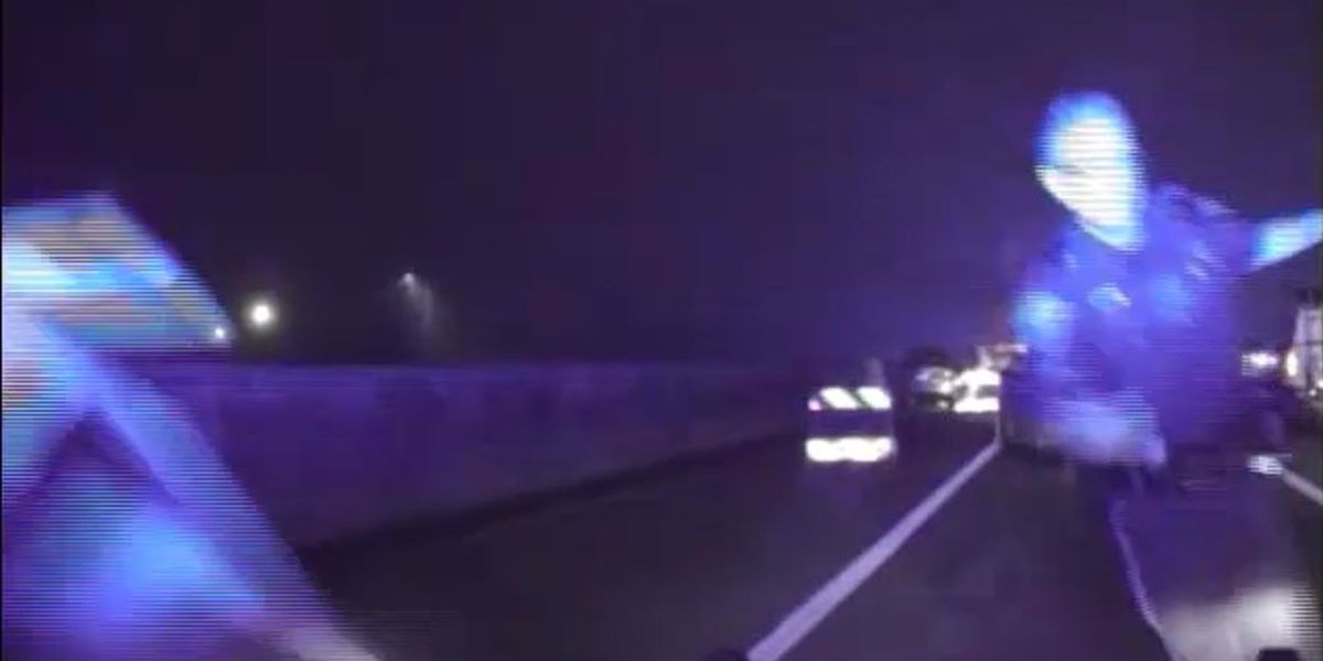 Video shows suspected drunk driver nearly striking Mt. Pleasant police officer who was assisting in accident