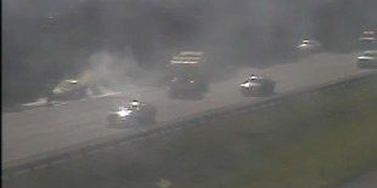 I-26 EB lanes near College Park Rd reopened following car fire