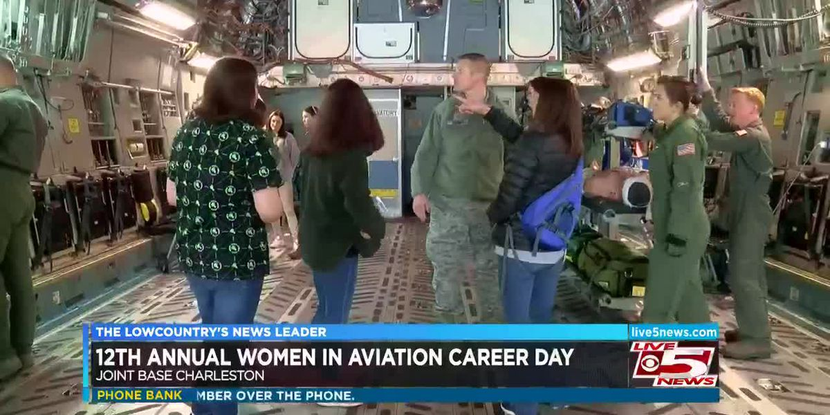 VIDEO: Lowcountry girls learn about aviation careers at Joint Base Charleston