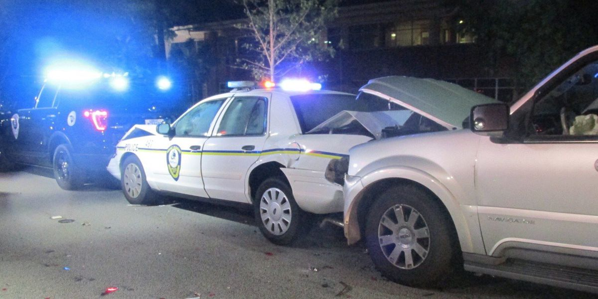 Mt. Pleasant Police officers, driver injured in early-morning crash