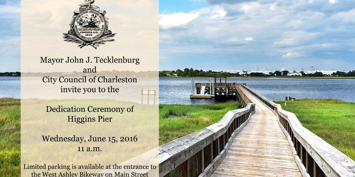 Charleston mayor, city officials to dedicate Higgins Pier