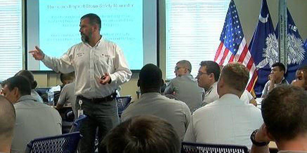 Citadel cadets undergo Red Cross training ahead of Hurricane Irma