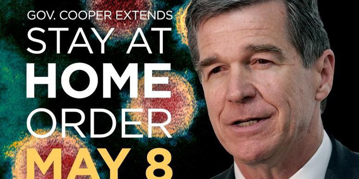 Gov. Cooper extends NC Stay at Home order through May 8: 'We need more time'
