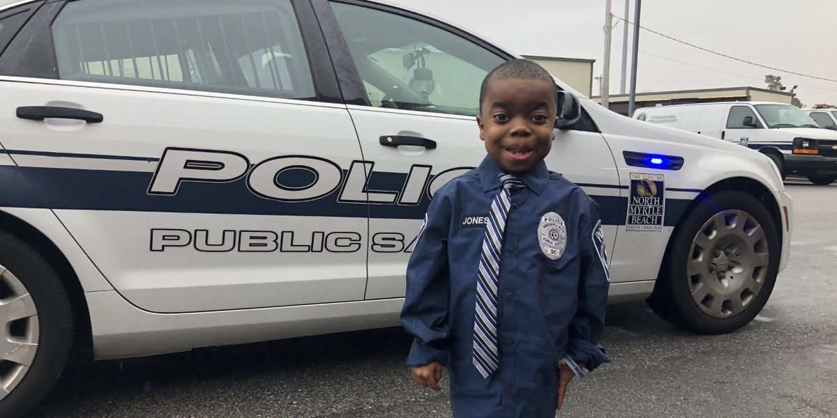 North Myrtle Beach first responders grant a dream come true for 6-year-old heart transplant recipient