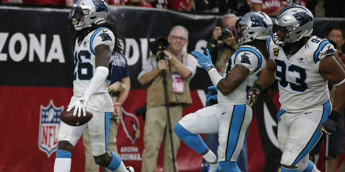 Allen throws 4 TDs, Panthers beat Cardinals 38-20