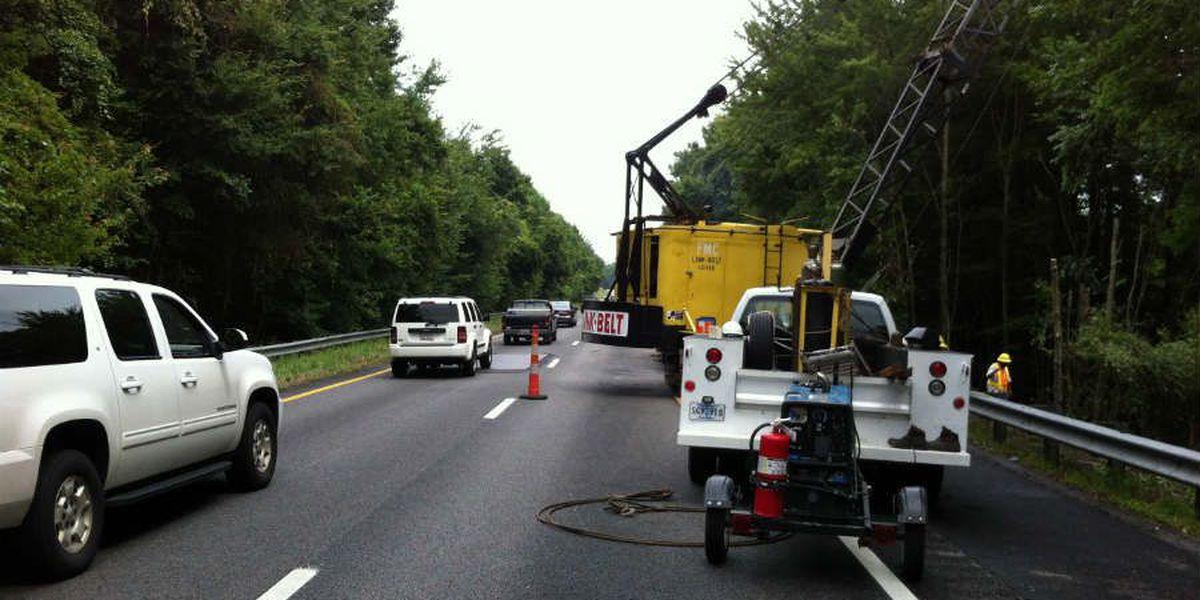 Crews will continue work on I-26 sinkhole Saturday