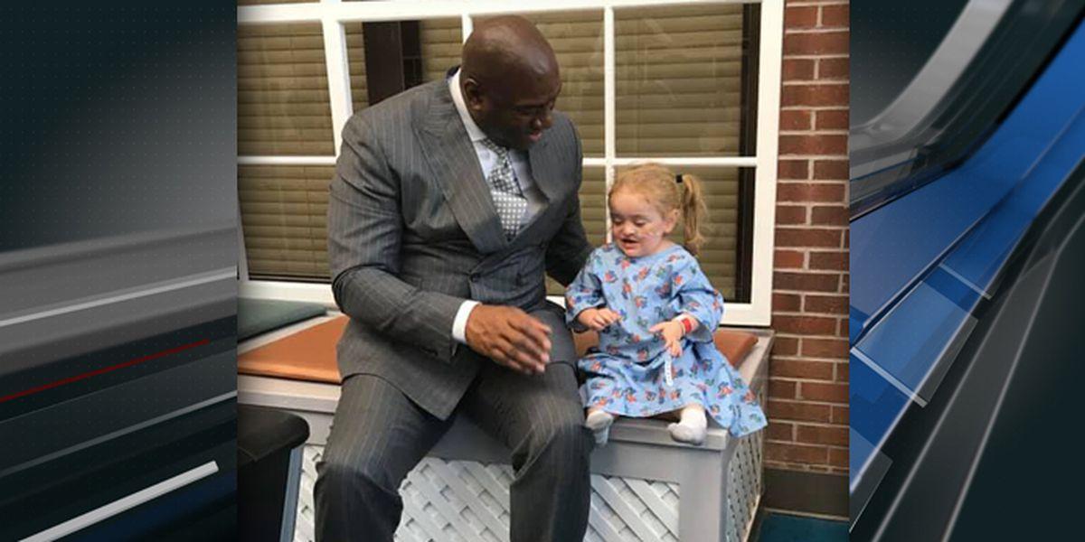 Magic Johnson visits hundreds of kids at MUSC Children's Hospital