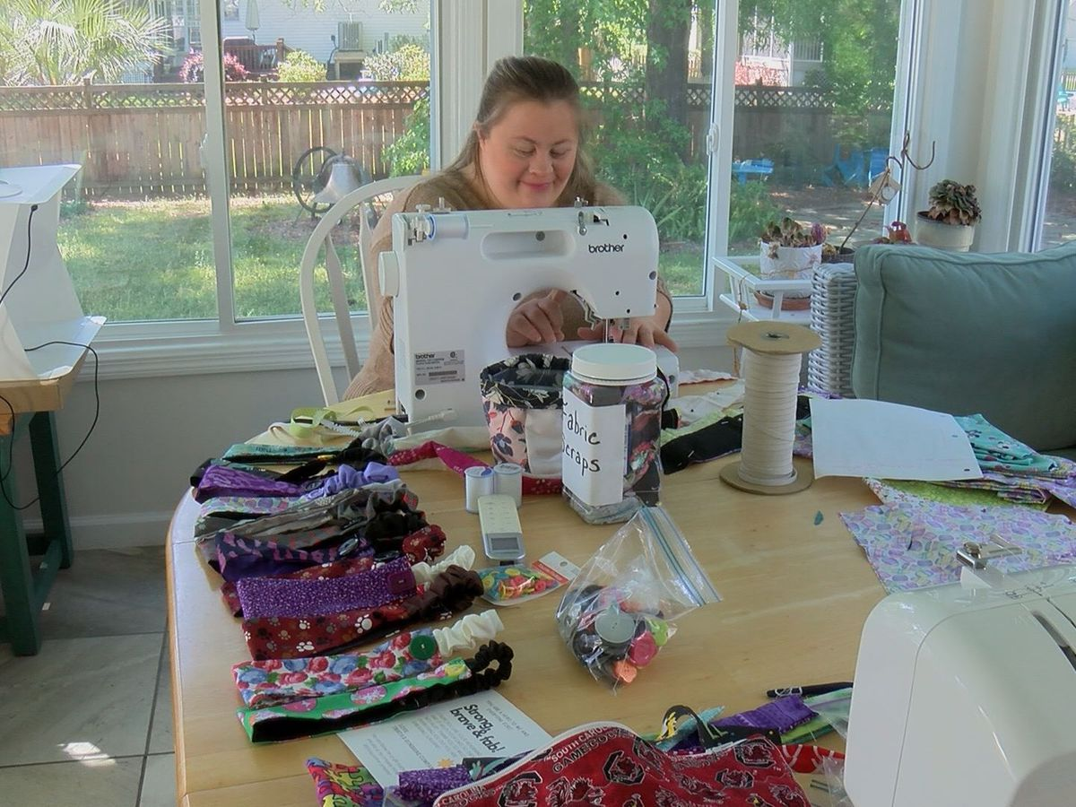 Lowcountry Strong: Sewing headbands, spreading 'sunshine' to help healthcare workers