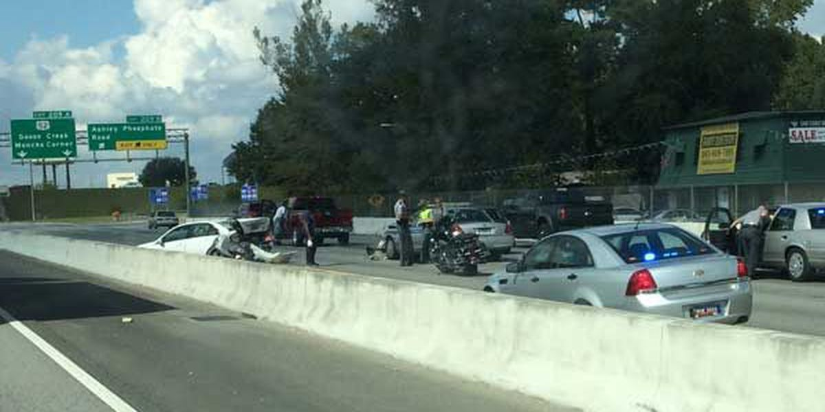 Emergency crews clear I-26 WB accident near Ashley Phosphate exit