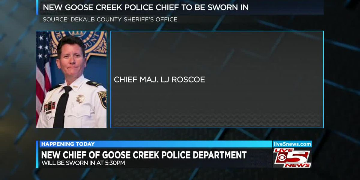 VIDEO: New Goose Creek Police chief to be sworn in Friday afternoon