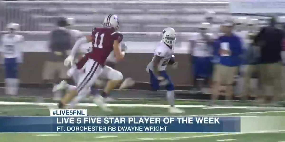 VIDEO: Ft. Dorchester RB Dwayne Wright named Live 5 Five Star Player of the Week