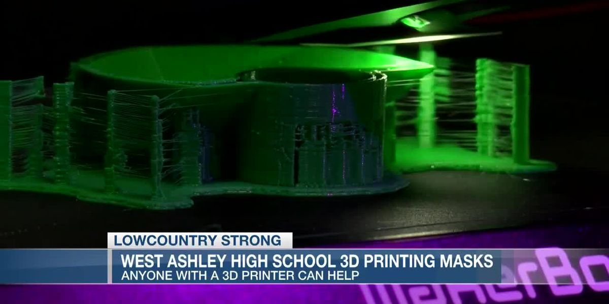 VIDEO: Lowcountry Strong: West Ashley High School using 3D printers to make masks for healthcare workers