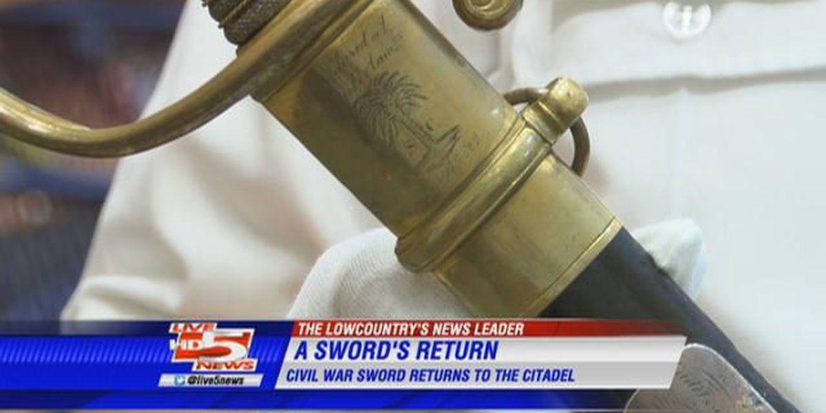 Lost Civil War sword returns to The Citadel