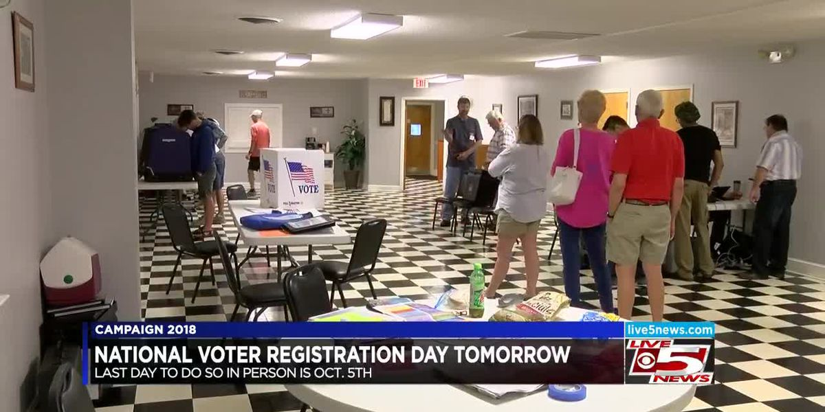 VIDEO: Tuesday is National Voter Registration Day