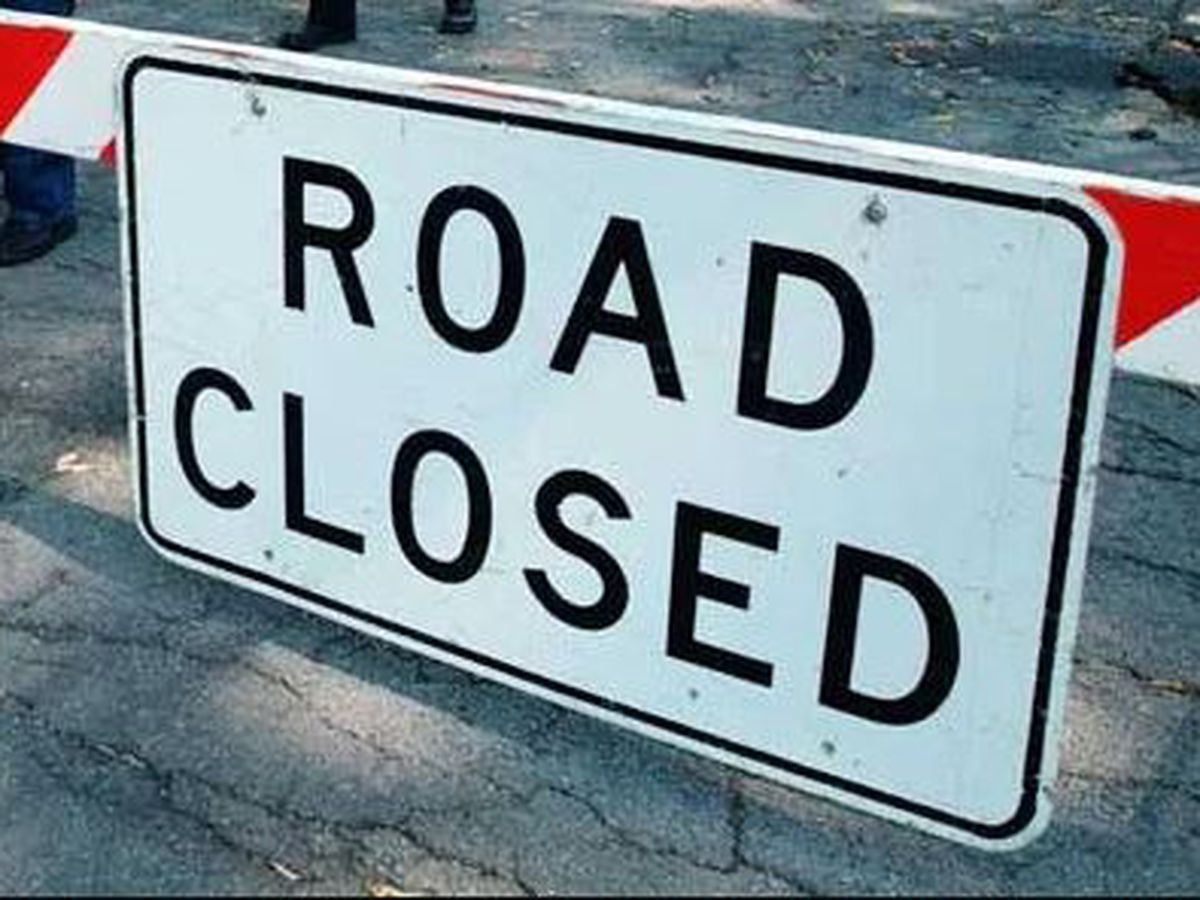 Scheduled road and lane closures pose potential traffic impediments