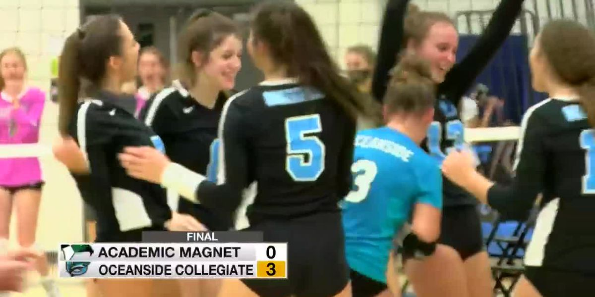 VIDEO: Oceanside volleyball wins region title with win over Academic Magnet