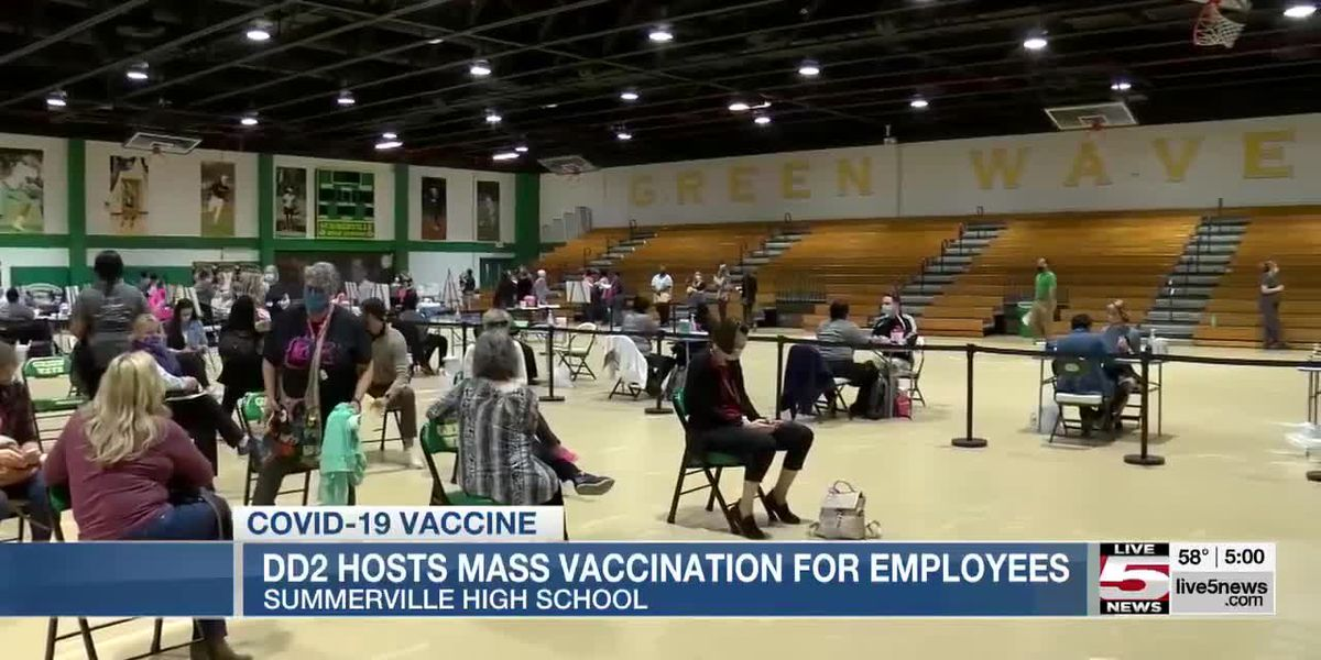 VIDEO: Summerville High School gym transformed into mass vaccination site