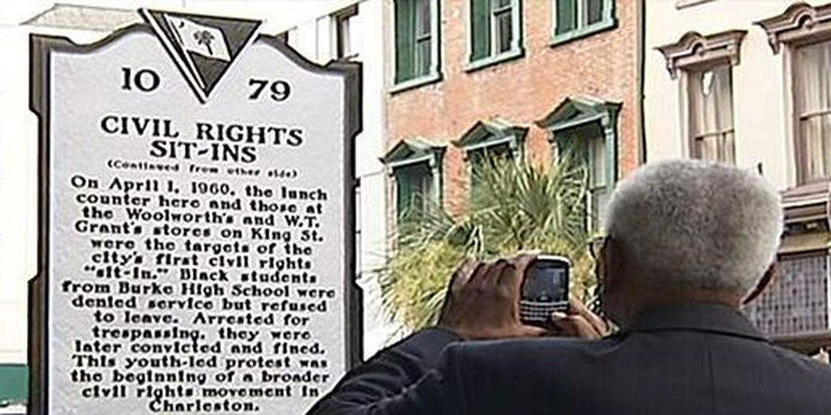 Recently-unveiled downtown Civil Rights historical marker damaged