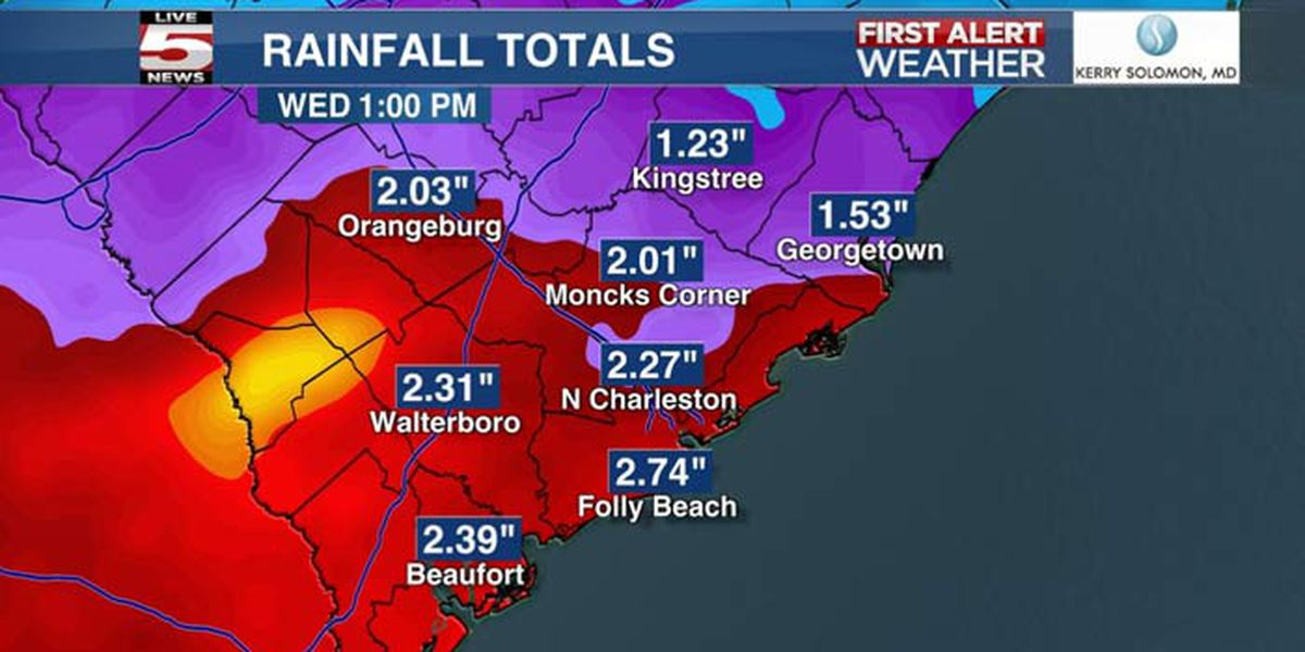 FIRST ALERT: Up to 3 inches of rain possible by Wednesday morning